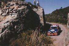 Jean Ragnotti foto firmada de mano 12x8 Renault Rally 13.