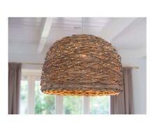 ROTAN 3054136 Hanging Lamp Light Basket Weaving Rattan Wicker BROWN 20.5 x 14.5