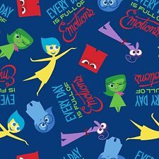 "1 yard Disney Pixar  ""Inside Out"" Full of Emotions  Fabric"