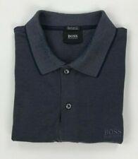Men's Dark Blue Boss Hugo Boss Polo Shirt Medium M Regular Fit Mercerised A