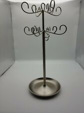 UMBRA adjustable height Metal Jewelry Tree CHROME. Necklaces, bracelets, rings.