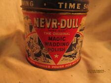 Vintage Nevr-Dull The Original Magic Never Dull Wadding Polish 5 OZ Tin Can