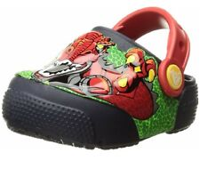 Crocs Light Up Kids/Junior Size J2 Dinosaur Robosaur Rex Slip On Clogs NWT