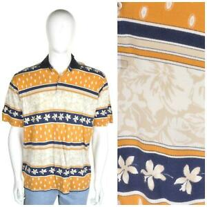 Vintage TEAM MARTINI RACING 90s Polo Shirt XL Floral Hawaiian T Top Y2K 00s