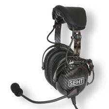 Seht SH 40-10 pilotos de fibra de carbono aviación auricular Garantía (5YR)