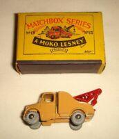 Matchbox MOKO Lesney No.13a BEDFORD WRECK TRUCK - VGC with ORIGINAL Type B BOX
