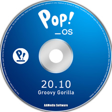 Pop!_OS 20.10 64bit Live Bootable DVD Rom Linux Operating System (Pop OS)
