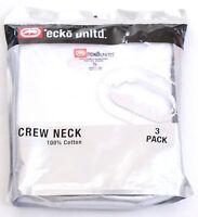 Ecko Unltd White Crew Neck Cotton Tee Shirt 3 in Package New in Package Men's