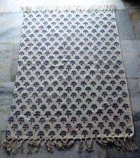 New handmade Block Print Dhurrie Kilim Rug Cotton Area Rug Thurkis Carpet Rug