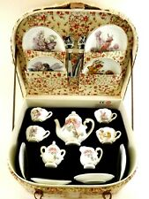 CHILDREN'S TEA SET BY REUTTER GERMANY / THE FLOWER FAIRIES / IN PICNIC BASKET
