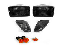 1997-2006 JEEP WRANGLER TJ SMOKE BUMPER SIGNAL LIGHTS + FENDER SIDE MARKER LAMPS