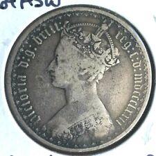 1872   Queen  Victoria  'Gothic'  Florin   Silver  Coin