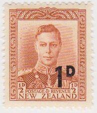 (NZJ34) 1950 NZ 1d on ½d brown KGVI MUH