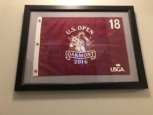 Dustin Johnson Signed 2016 U.S. Open Official Oakmont Country Club Flag JSA COA