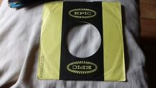 "original company sleeve for 7"" singles yellow epic"