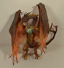 "8"" Highly Detailed Red Dragon w/ Crystal Ball PVC Action Figure"