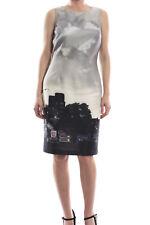Joseph Ribkoff Black/Grey City Print Sleeveless Dress Sz 10 (UK 12) New 173701