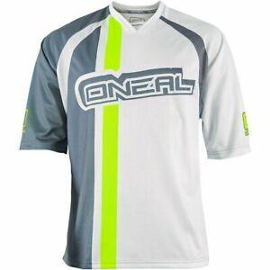 O'Neal Stormrider V-neck Collar Men's Cycling Jersey White Grey Size L
