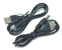 2x USB A Male To DC 5.5mm x 2.1mm Female Plug DC Power Supply Socket Cable Cord
