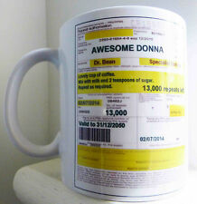 Personalised coffee prescription Mug with your details