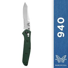 Benchmade 940S Knife Reverse Tanto Serrated Edge Satin Finish Combo AXIS Assist