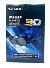 Sharp Active 3D Glasses Rechargeable AN3DG20B  - Black