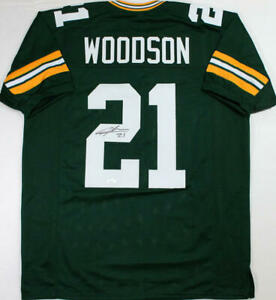Charles Woodson Autographed Green Pro Style Jersey - JSA W Auth *2