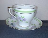 Roslyn china vintage tea set cup & saucer hand painted made in England #8157- xx