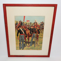 "Vintage H Charles McBarron Matted Framed ""The American Soldier"" Art Print"