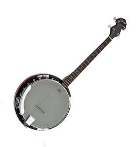 Ozark Tenor Starter Banjo 4-string 24 Plated Brackets Detachable Resonator 2105T