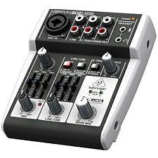 Mini Audio Analog Mixer USB/Audio Interface Compact Mic/Line 5 Input Mixing Cons
