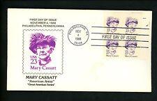 US FDC #2181 Key Kachet 1988 Philadelphia PA Mary Cassatt Artist