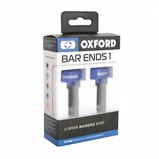 Oxford BarEnds 1 Blue Motorcycle Bar End Weights - 22mm Handlebars OX591 T
