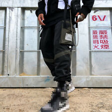 Men Techwear Elastic Trousers Sport Jogger Cargo Ankle Band Pants with Pockets