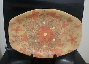 Vintage Retro Bessemer Nylex Melamine Orange Daisy Plate