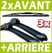 3 BALAIS D'ESSUIE GLACE FLEXIBLE AVANT + ARRIERE RENAULT CLIO 3 III 2005-06.2007