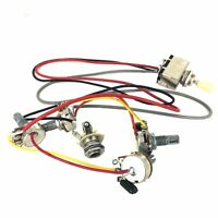 Wiring Harness 3 way Toggle Switch 2V2T 500K Pots & Jack Les Paul LP Guitar