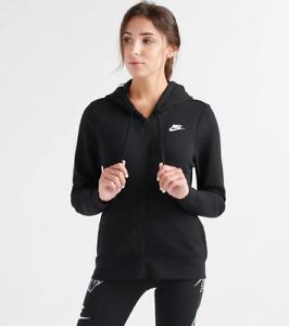 NEW Nike Sportswear Women's Classic Gym Full Zip Hoodie Jacket XS