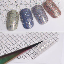 12 Patterns Holo 3D Nail Stickers Laser Gold Silver Aurora Line Decals Manicure