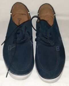 Mens Firetrap Navy Blue Suede Shoes Trainers Casual UK 8 Unused.