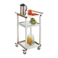 Safco Small Aluminum Frame Refreshment Cart 8968SL Saf8968sl