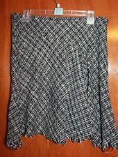 STUDIO Y Ladies' Large SKIRT (black/white w/ asymmetrical hem & elastic waist)