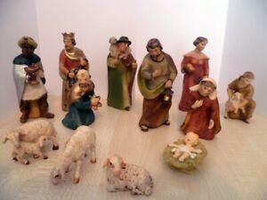 13 Krippe Figuren für Weihnachten - 3 heilige König - Maria - Josef - Jesus