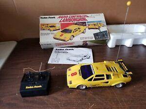 Radio Control Yellow Lamborghini Countach LP500S  Radio Shack with Box