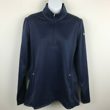 NEW Nike Golf Therma Fit Womens Navy Blue 1/2 Zip Jacket Pullover Sweatshirt XL