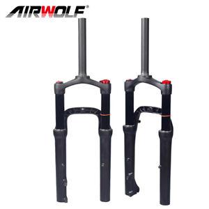 "20er*4.0"" Air Suspension Fat Fork MTB/Snow/Beach BMX Bike QR Forks 130mm 1-1/8"""