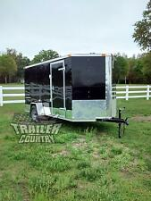 NEW 2021 6x12 6 x 12 V-Nosed Enclosed Cargo Motorcycle Trailer Ramp & Side Door