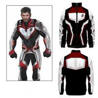 Avengers 4 Endgame Advanced Mens Womens Long Sleeve Zipper Coat Jacket Tops