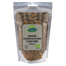 Organic Golden Flax Seed (Linseed) & Chia Seed Mix 300g
