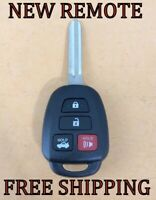 NEW REPLACEMENT KEYLESS REMOTE HEAD FOB FOR 14-19 TOYOTA CAMRY COROLLA HYQ12BEL